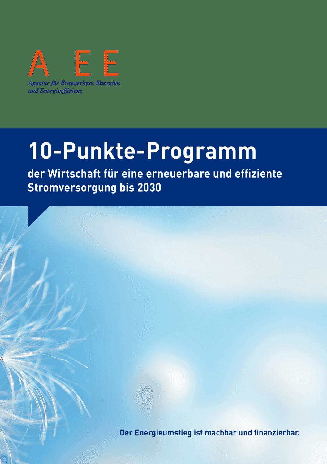 aee suisse 10 Punkte Programm Stromversorgung