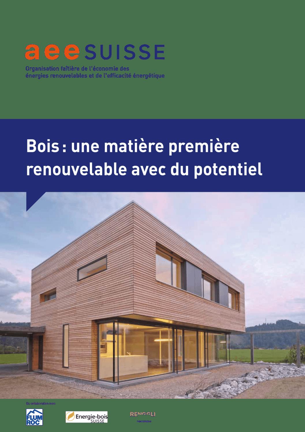 aee suisse Brochure Bois