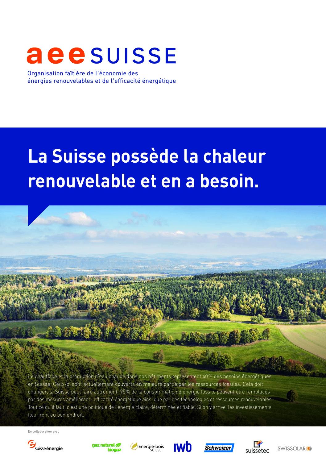 aee suisse Brochure Chaleur renouvelable
