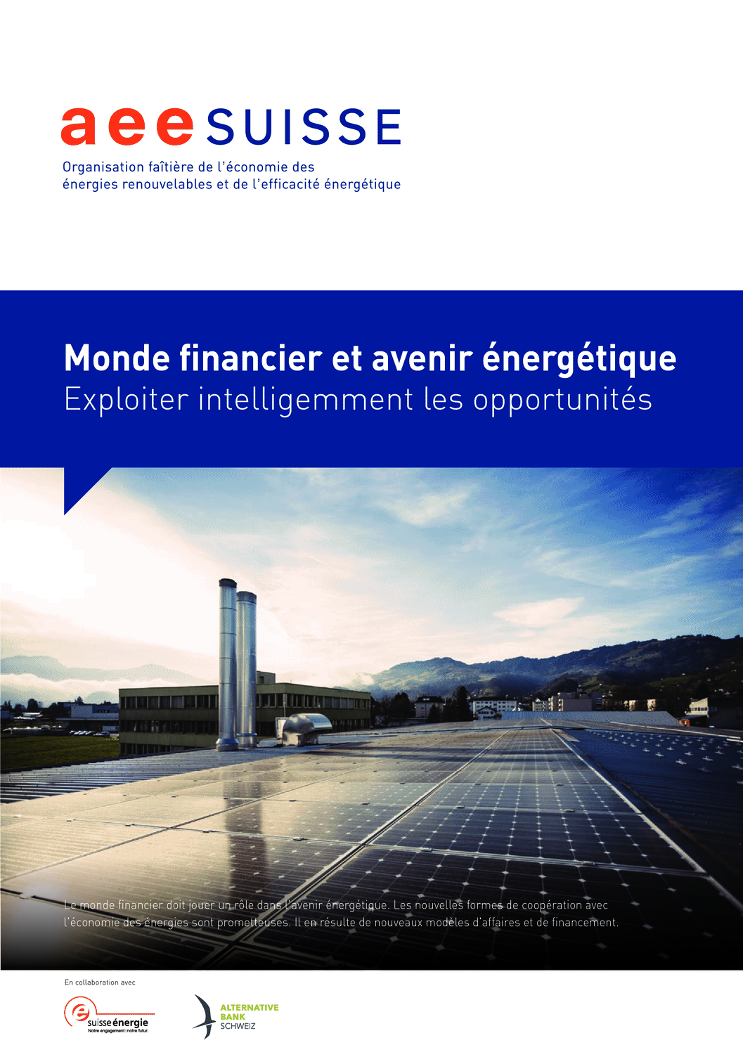 aee suisse Brochure Monde financier et avenir énergétique