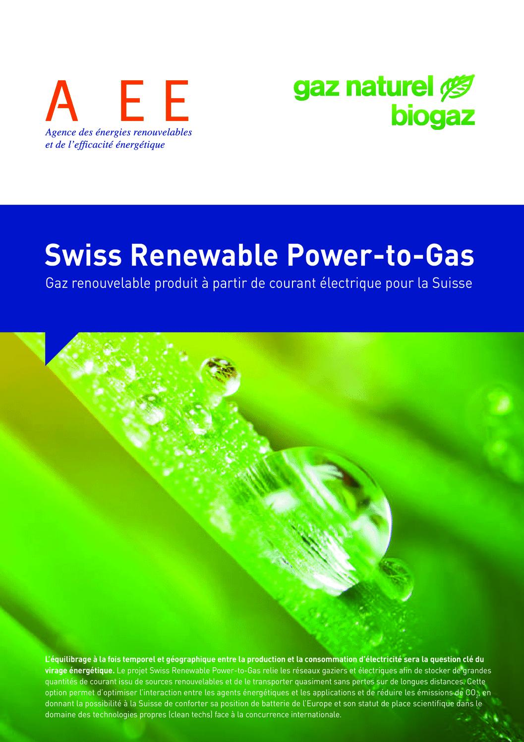 aee suisse Brochure Power-to-Gas