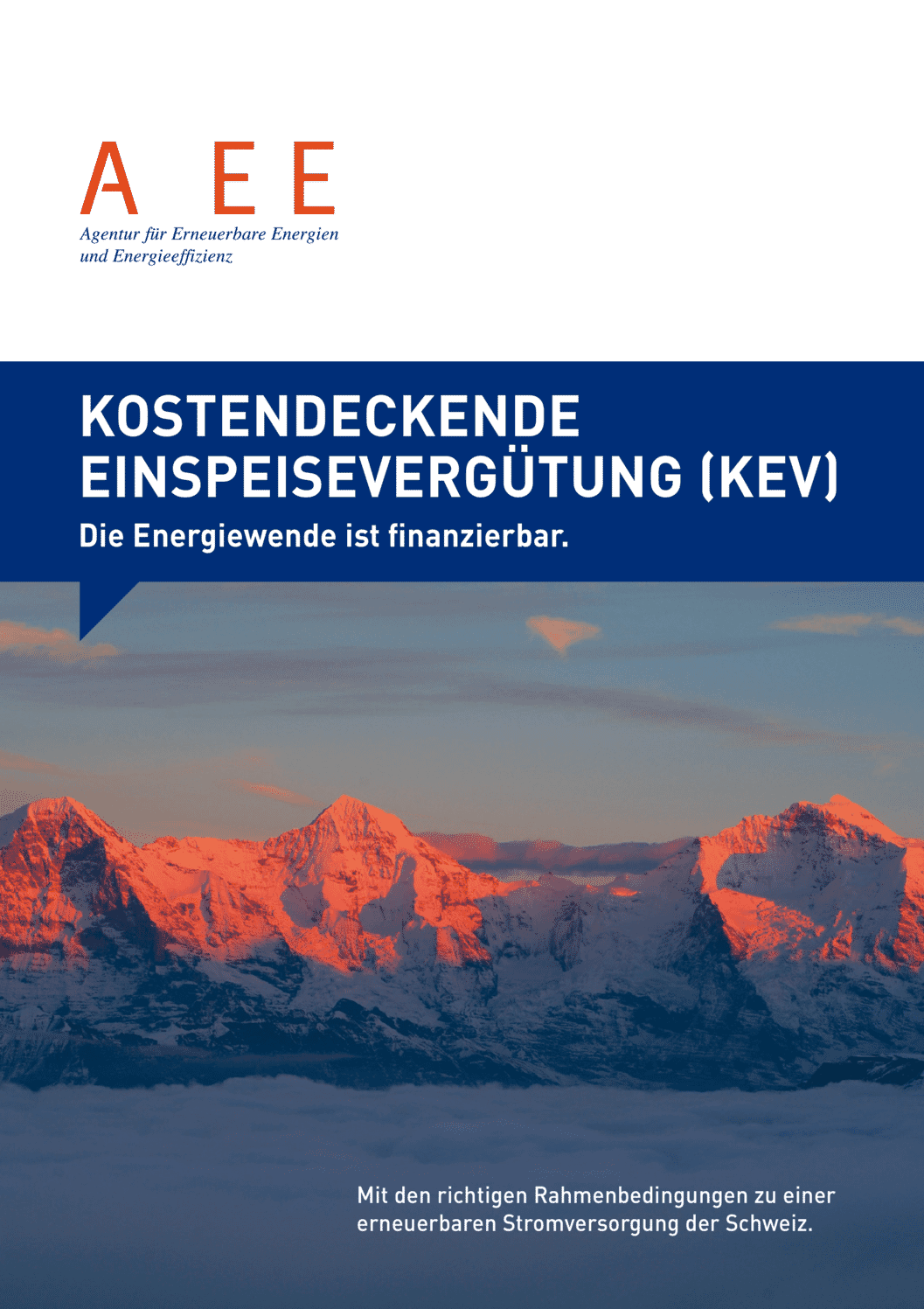 aee suisse Kostendeckende Einspeiseverguetung KEV