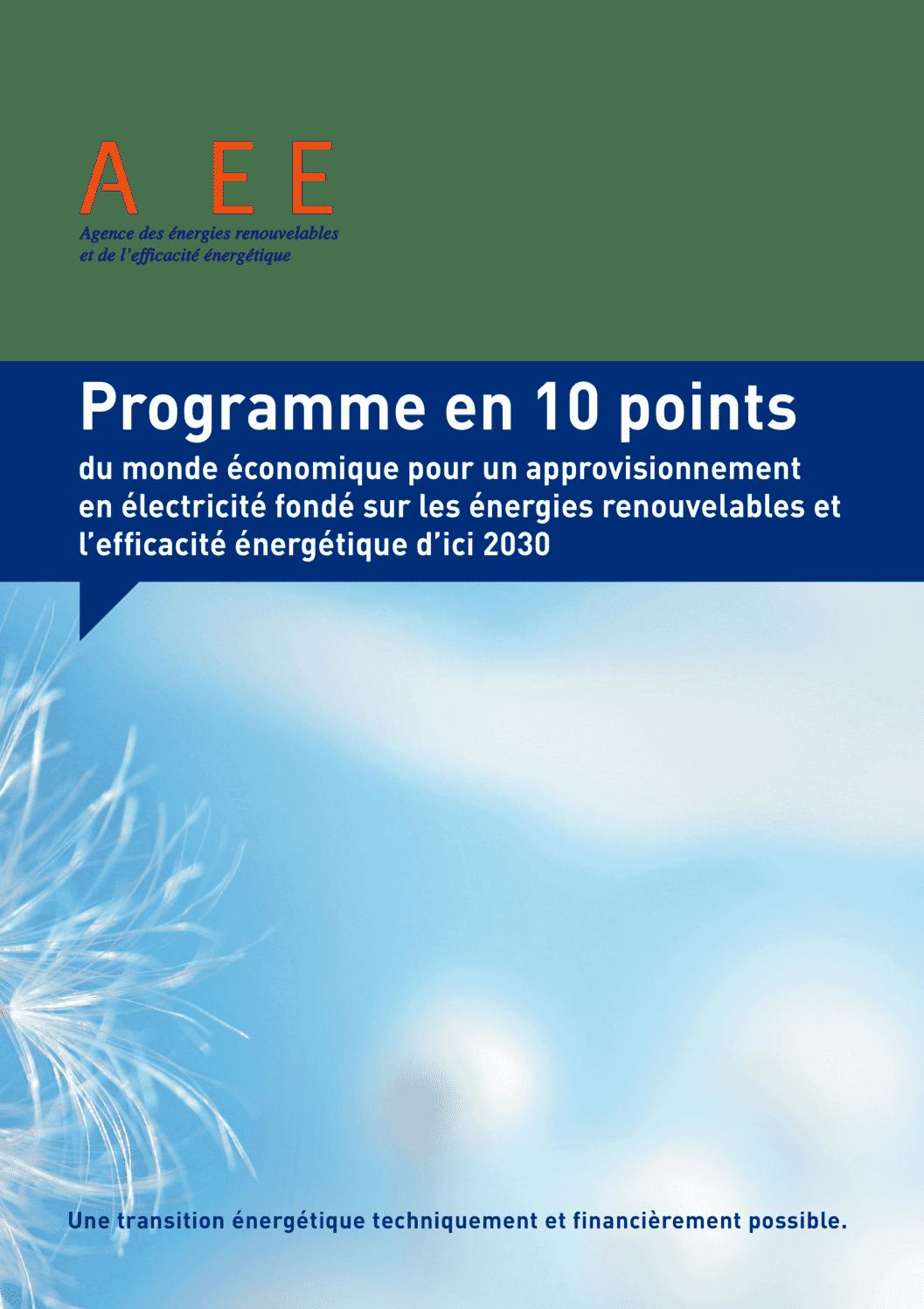 aee suisse Brochure 10 Points