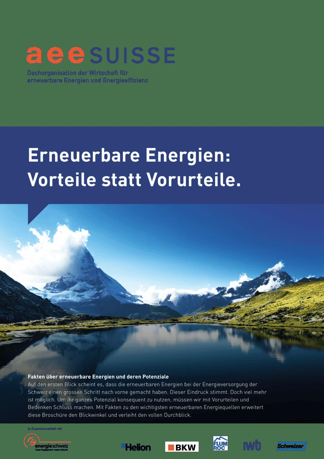 aee suisse Vorteile Erneuerbare Energien