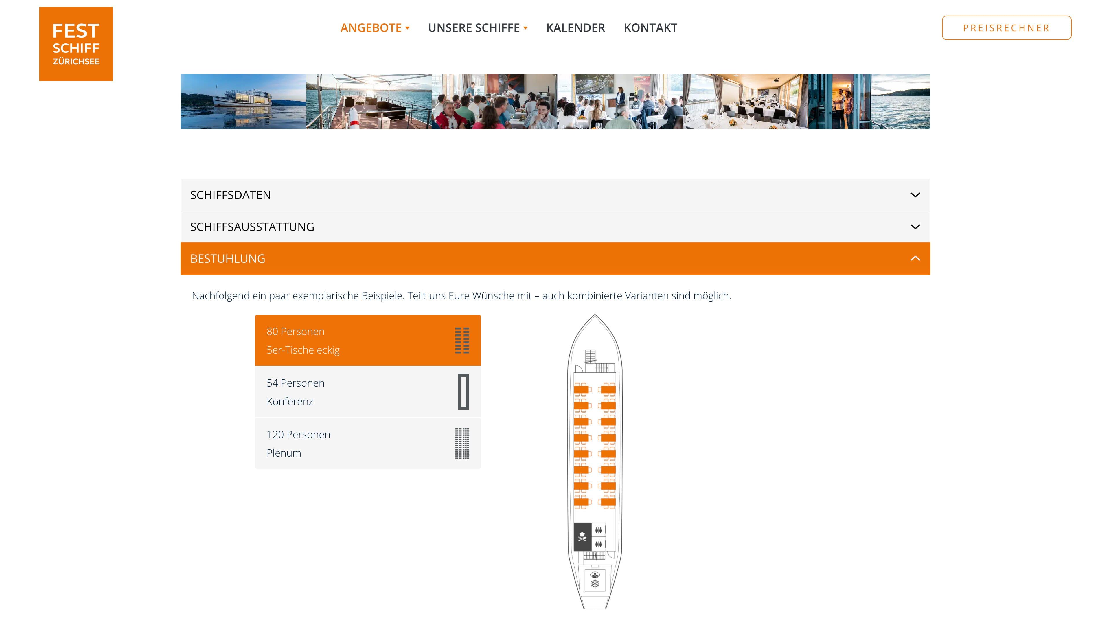 Website Festschiff Schmerikon