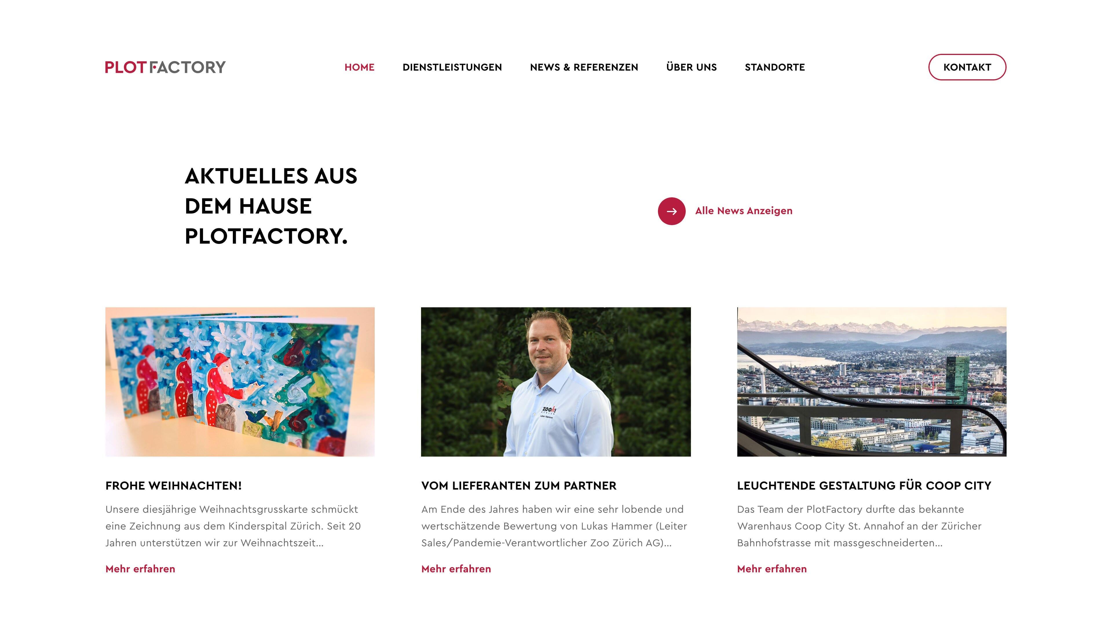 Wordpress Website - Plotfactory Weisslingen