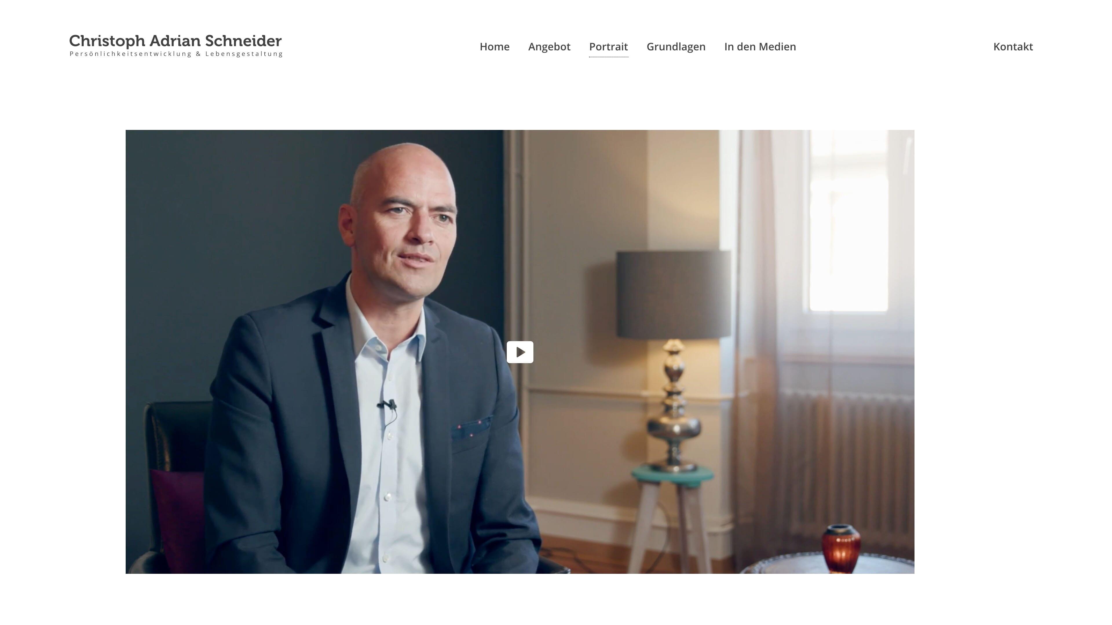 Website Christoph Adrian Schneider