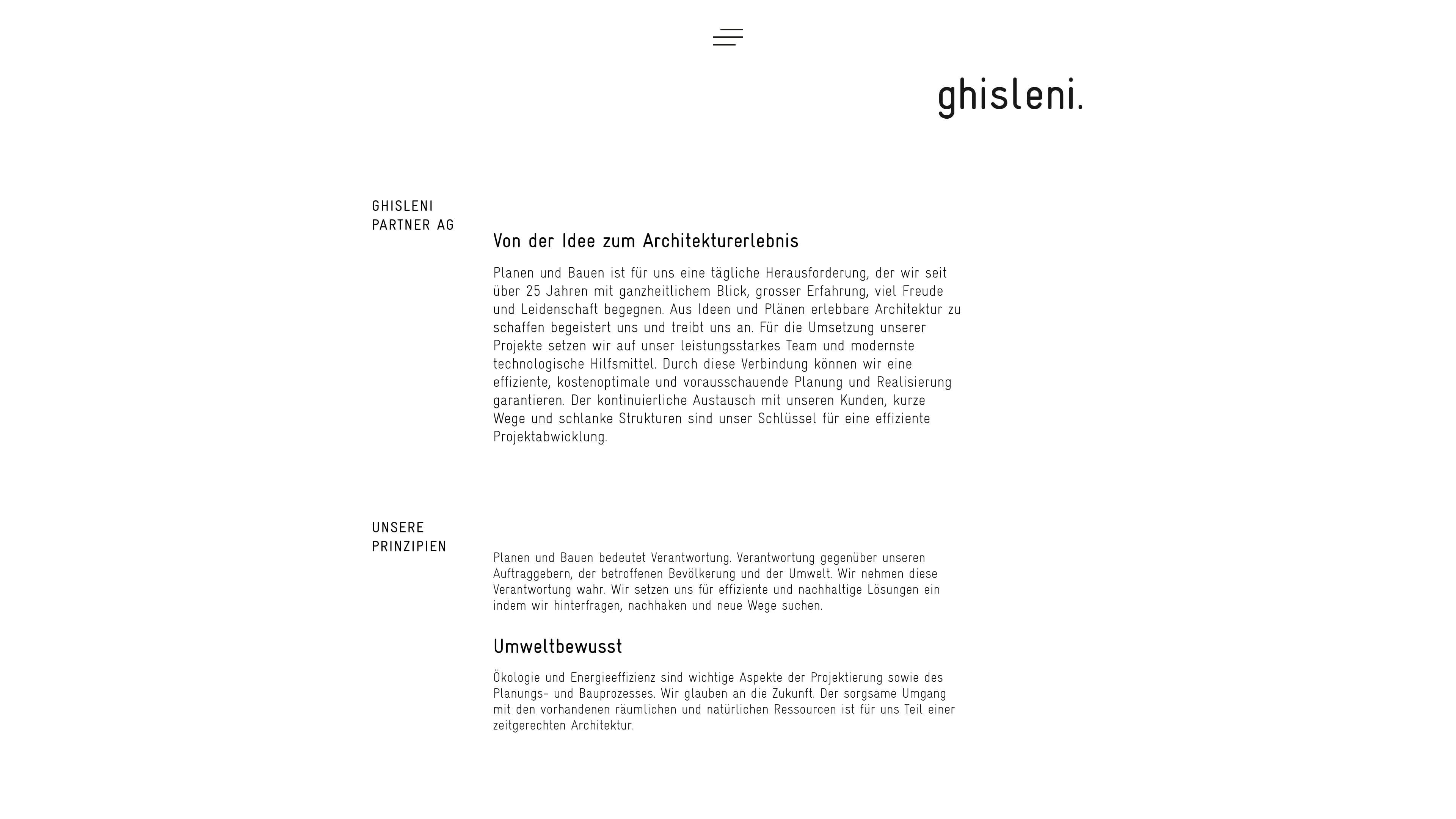 Website für Ghisleni